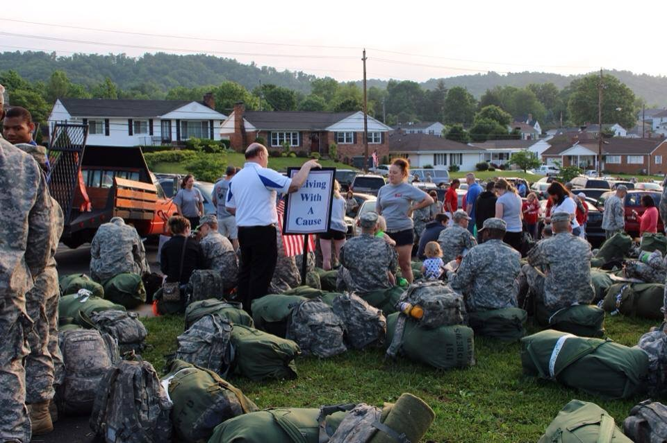 Founder of LWAC, Mike Gifford speaking to the 1191st before their deployment to Afghanistan in early 2014.