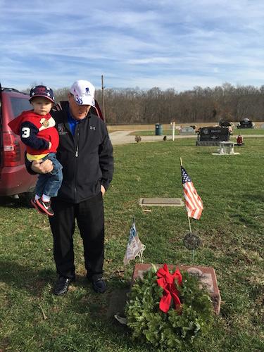 Charlie Miller's grave (Wreaths across America)